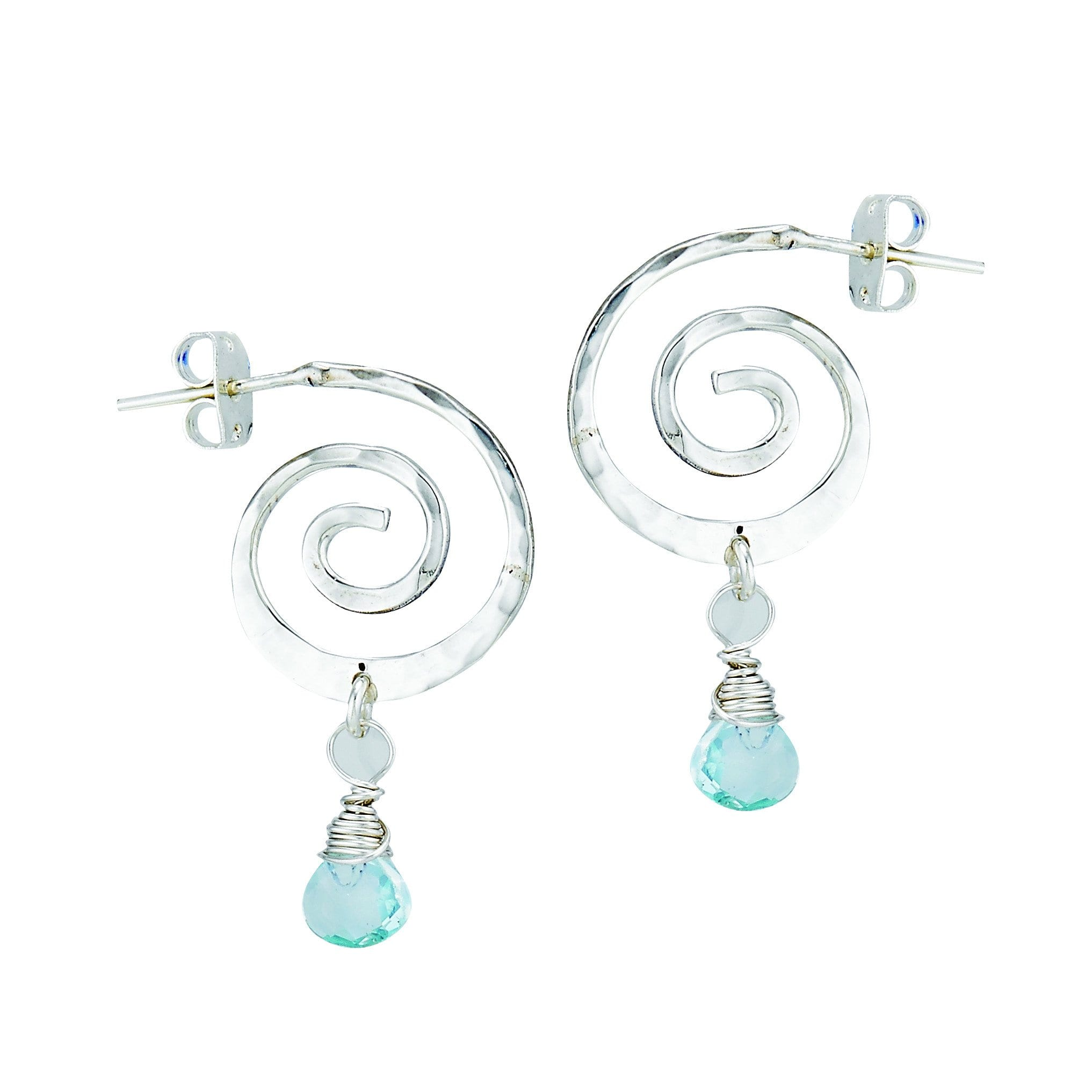 one gems corp topaz blue earrings silver designers created
