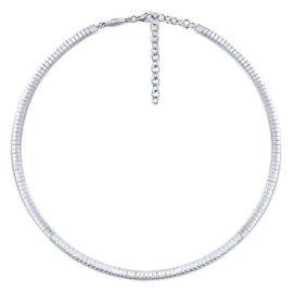 21659-Gabriel-14k-White-Gold-Cascade-Choker-Choker-Necklace~NK5892W45JJ-2