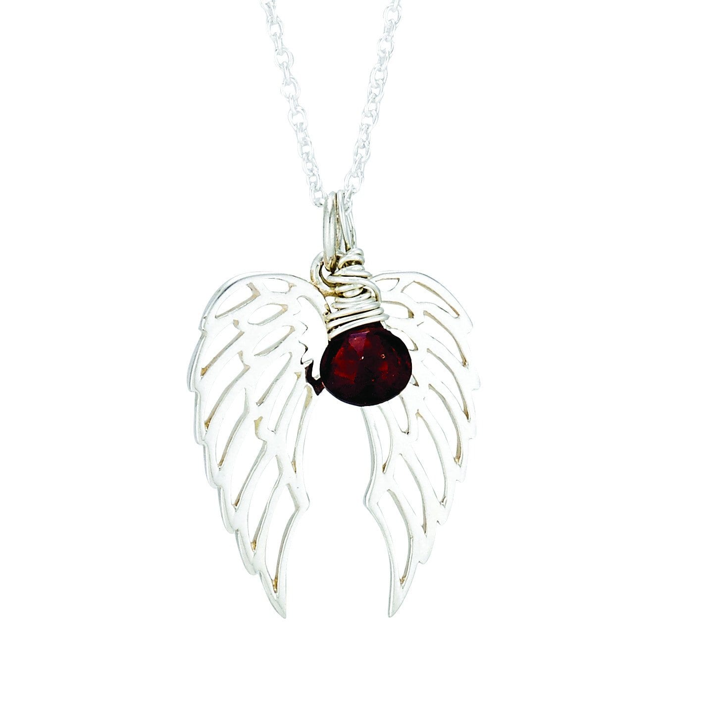 wing angel in sterling diamonds with silver pendant