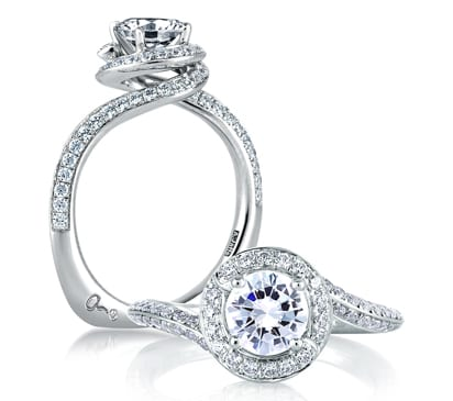 halo signature rings spiral ring engagement a