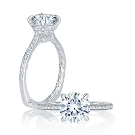 14kt White Gold .20 ctw Diamond 4 Prong Engagement Ring