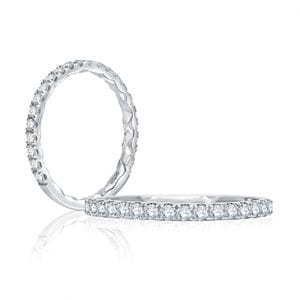 14kt White Gold .34ctw Diamond Quilted Wedding Band