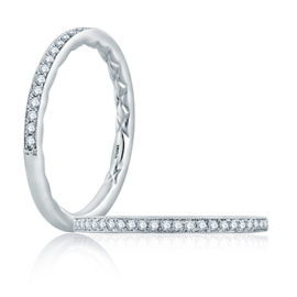 14kt .13ctw Diamond Milgrain Edge Wedding Band