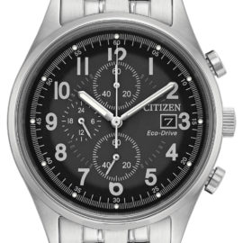 citizen eco drive mens chronograph black face watch CA0620-59H