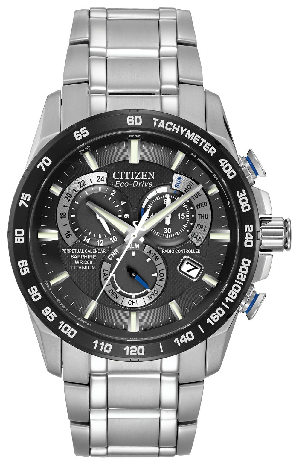 Sku 20206 Categories Citizen Eco Drive Collections Watches Tags Atomic Chronograph Gents Mens Pcat Perpetual Calendar Radio Controlled