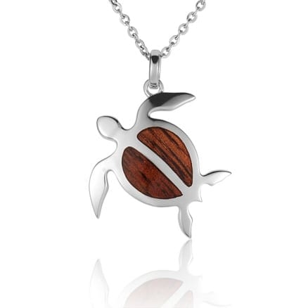 Ss hawaiian koa wood honu turtle pendant jupiter jewelry inc ss hawaiian koa wood honu turtle pendant aloadofball Choice Image