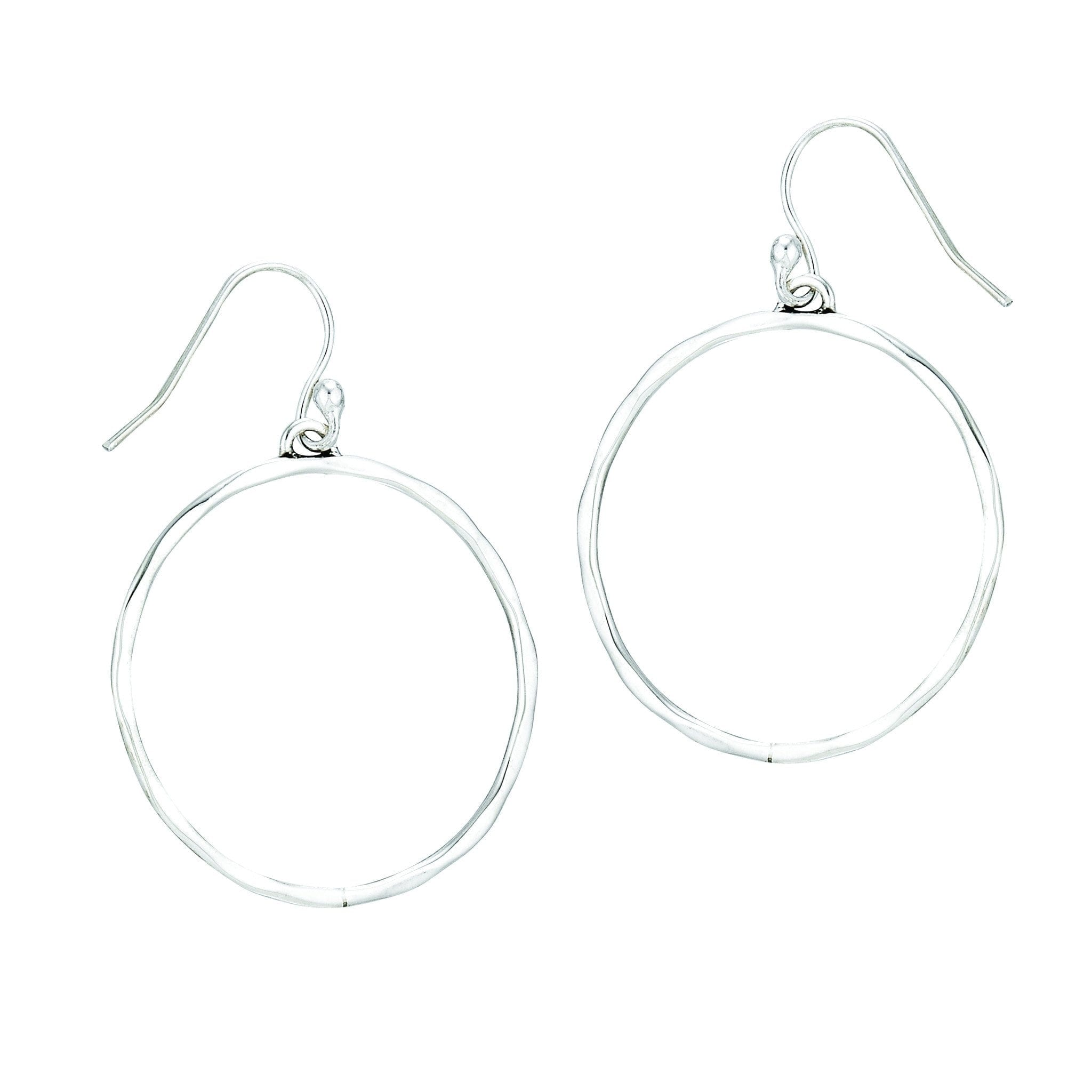 SS Hammered Circle Hoop Earrings – Jupiter Jewelry, Inc.