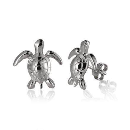 Sterling Silver Turtle Post Earrings