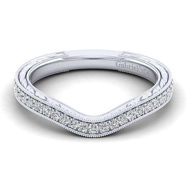 14kt Curved Diamond Wedding Band Jupiter Jewelry Inc
