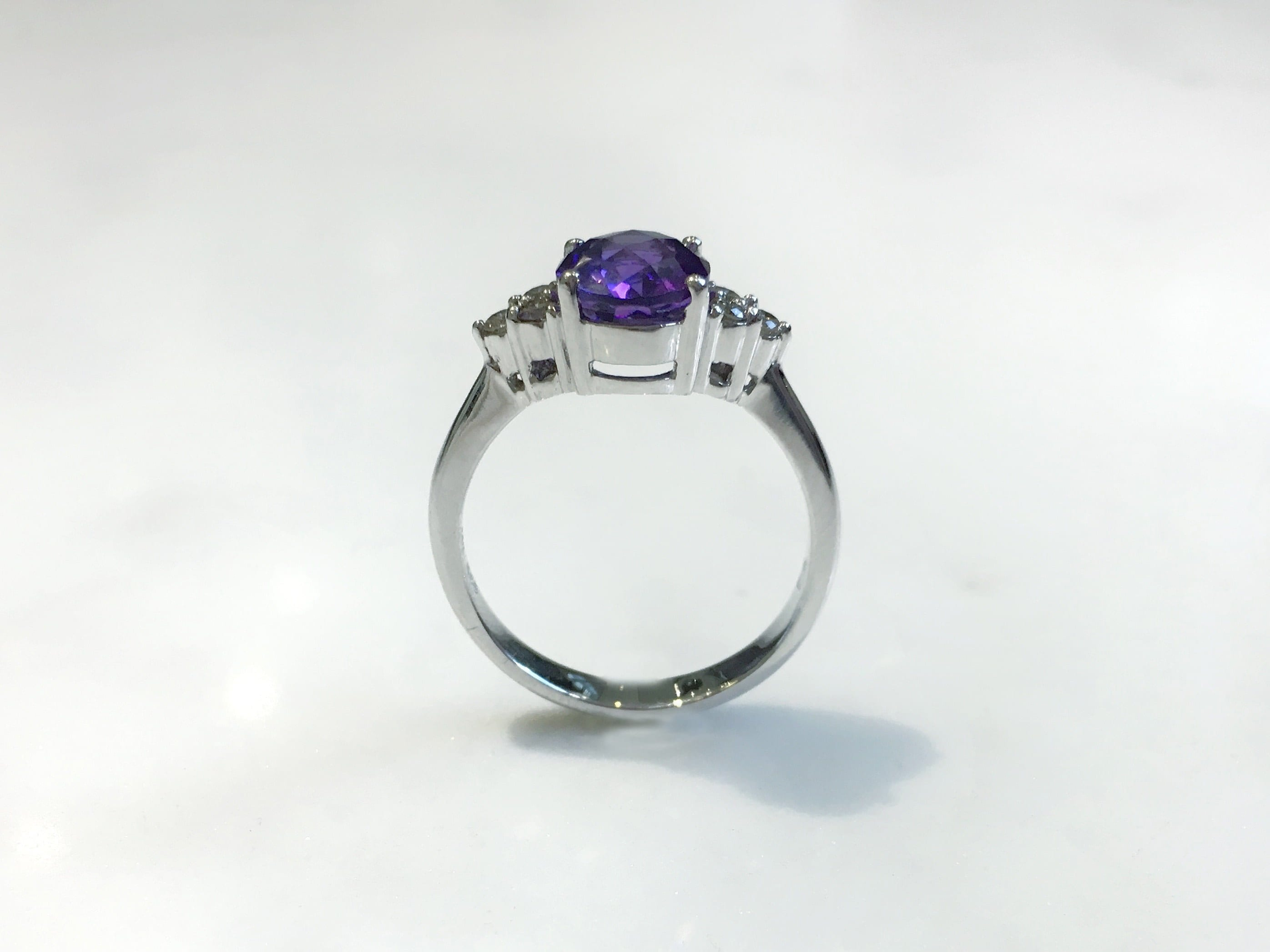 budet rings engagement gold products amethyst ring cocktail shieldcocktailrngamethystfront yg marcia amethist shield ncb