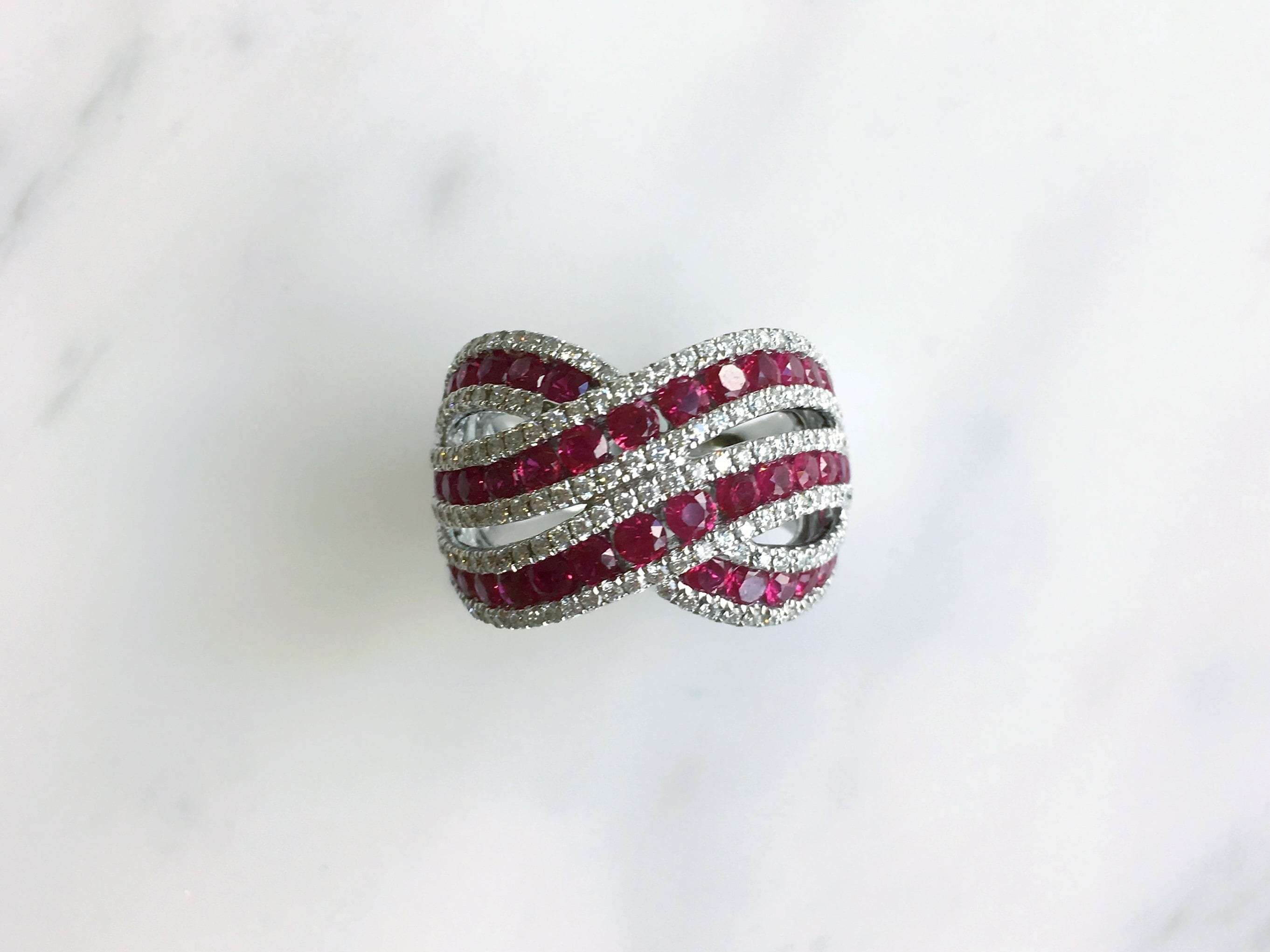 18kt 2.12 ctw Ruby & .87 ctw Diamond Ring