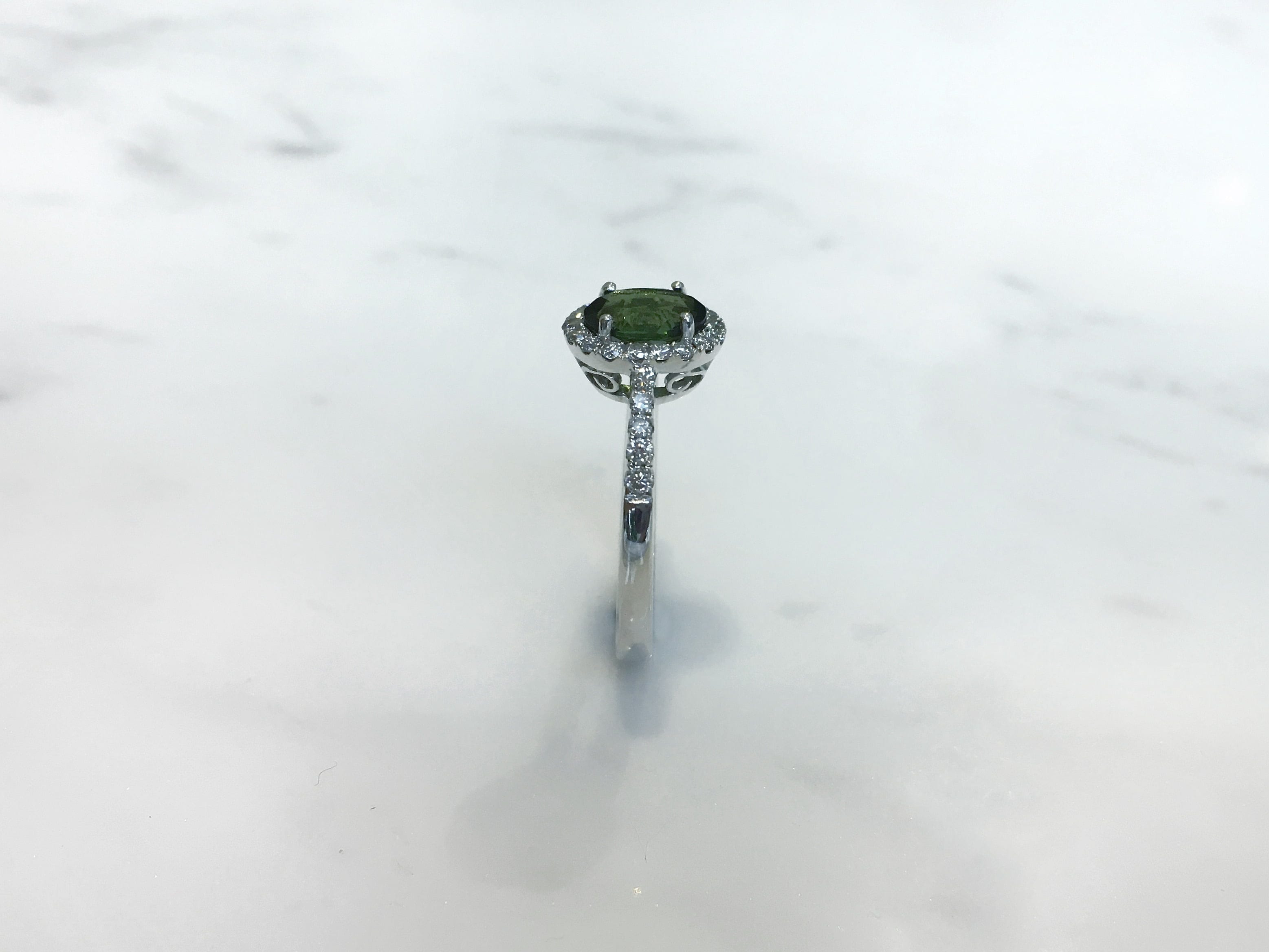 diamond green carat ring rings tourmaline tamir mint pin