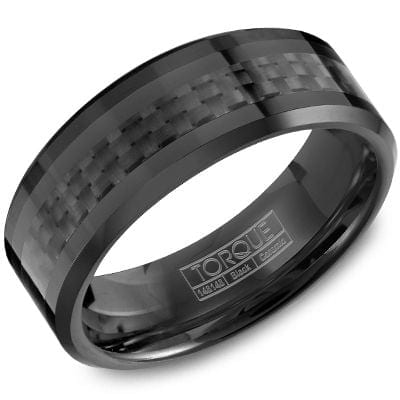 Sku 20405 Categories Collections Crown Ring Mens Wedding Band Bands Tags 8mm Black Ceramic Carbon Fiber Gents