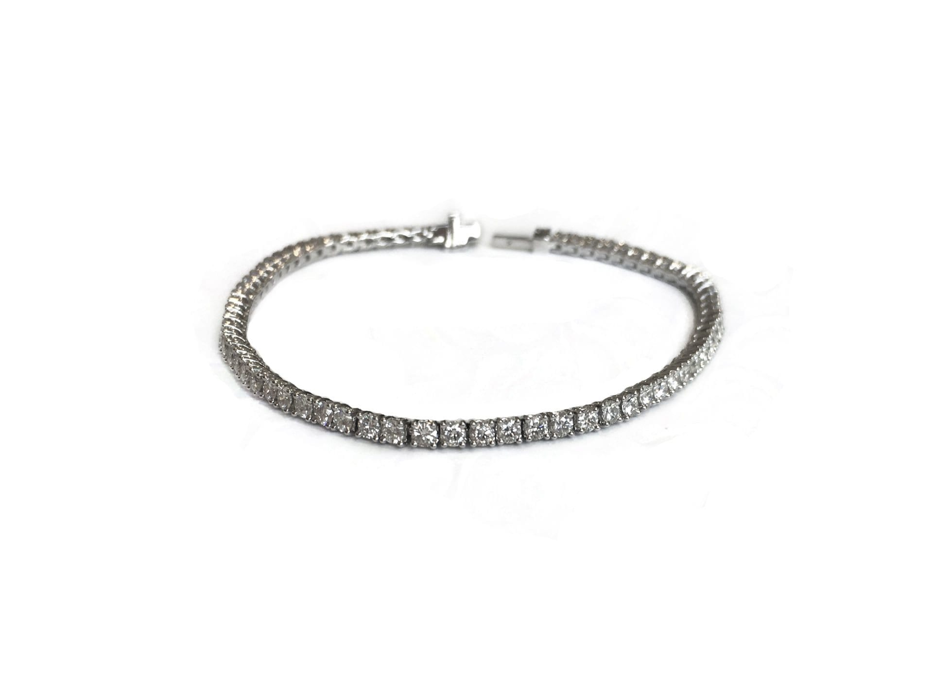 tw in bracelet tennis white diamond gold