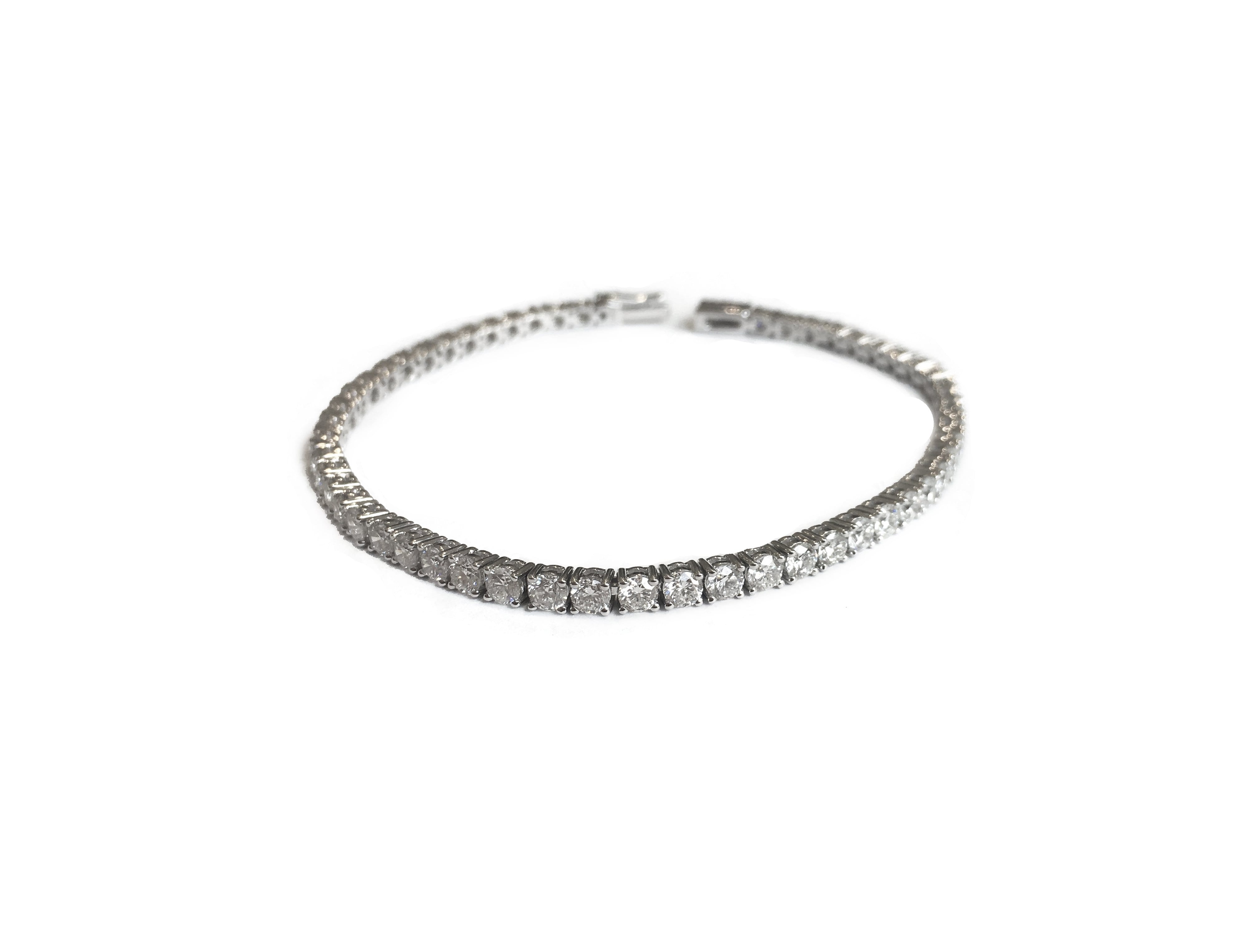 bracelet tennis gold jewelry tw ct in diamond white