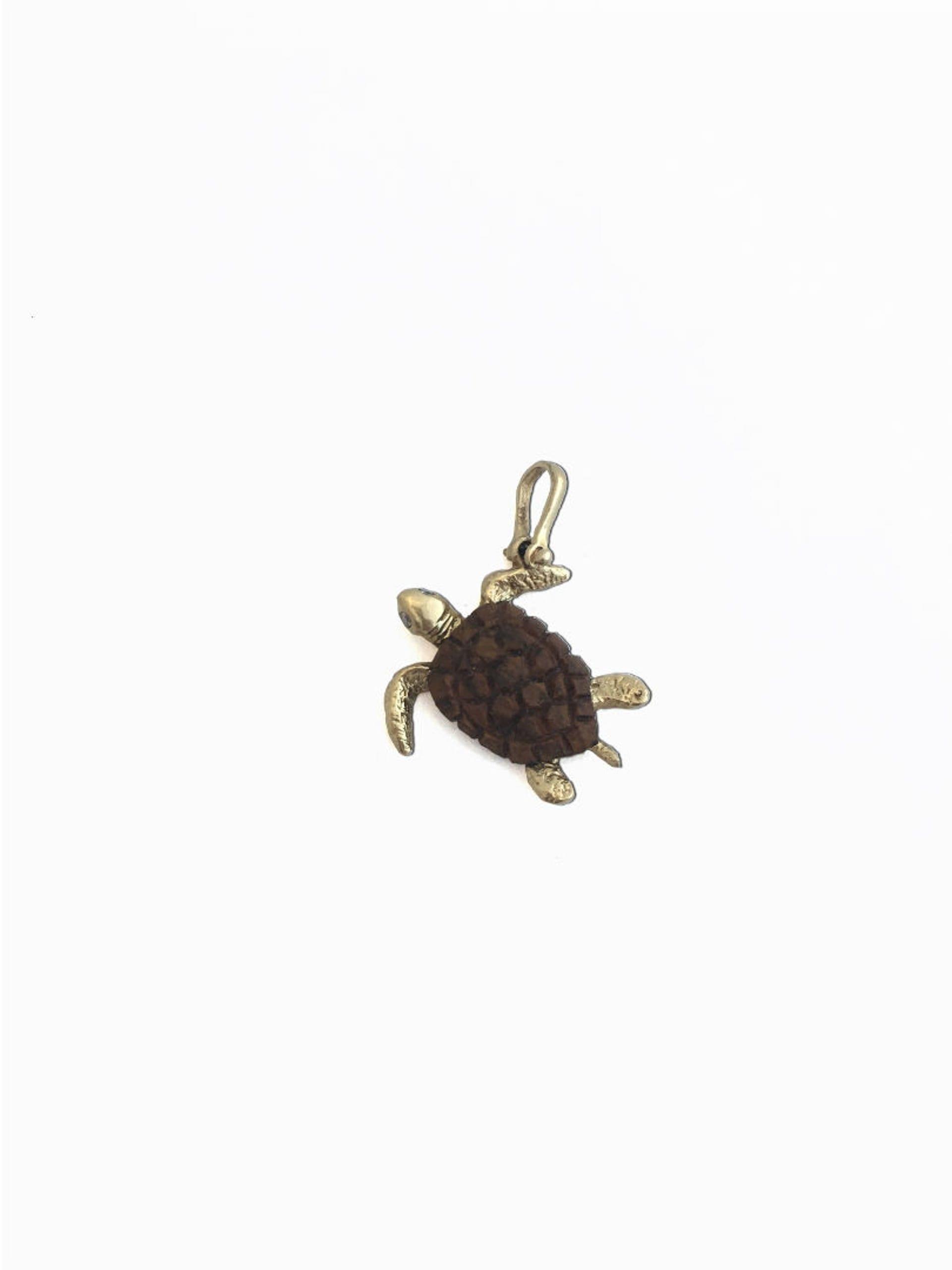 14kt teak sea turtle pendant jupiter jewelry inc 14kt teak sea turtle pendant aloadofball Image collections