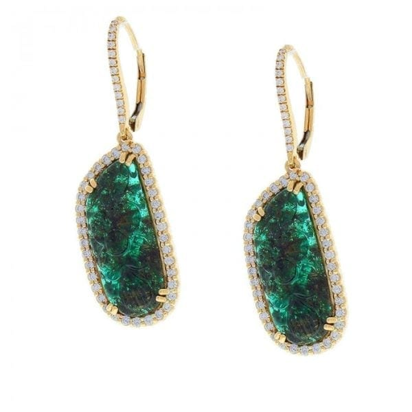 14kt carved emerald earrings jupiter jewelry inc
