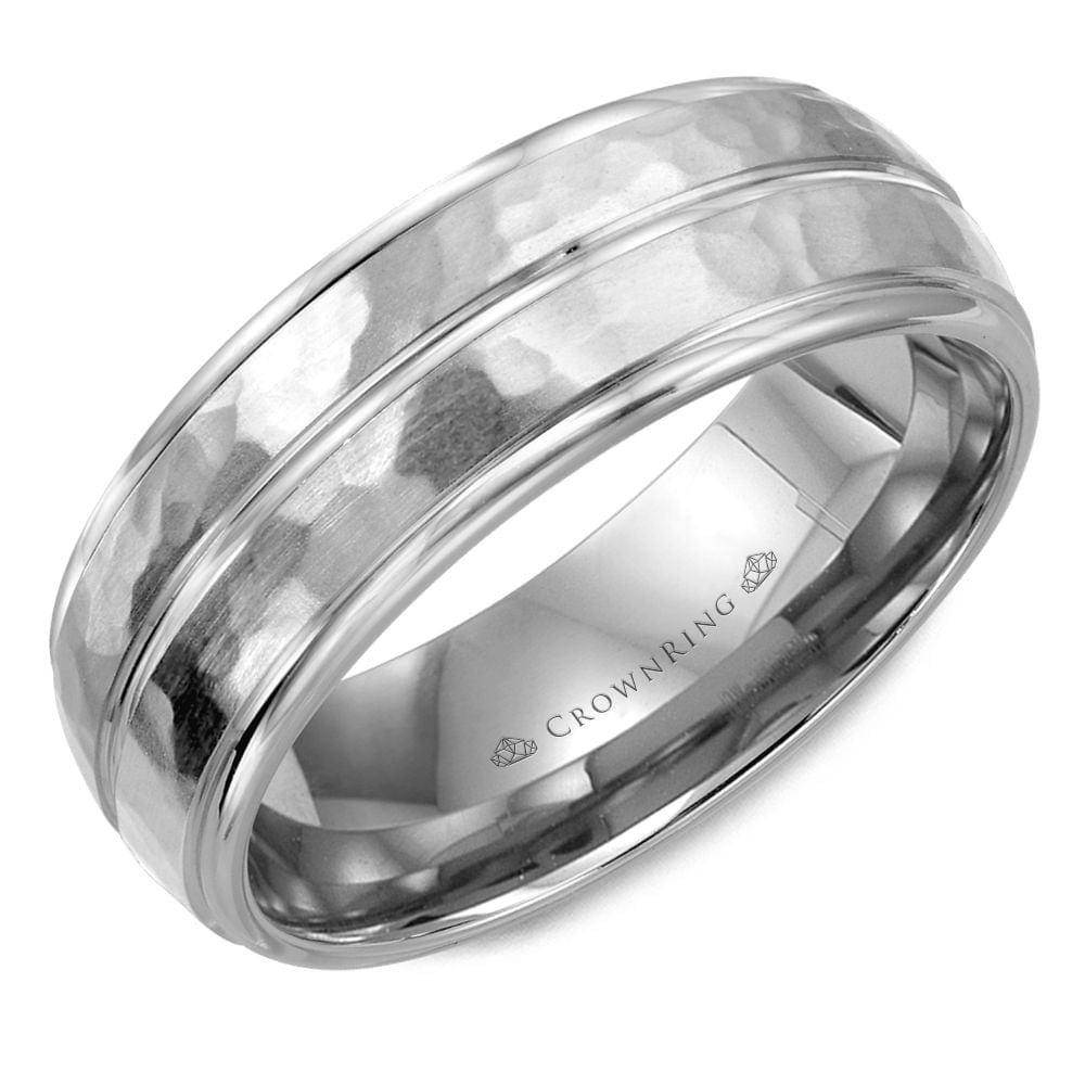 Sku 7292 Categories Collections Crown Ring Mens Wedding Band Bands Tags 8mm Gents Hammered Men
