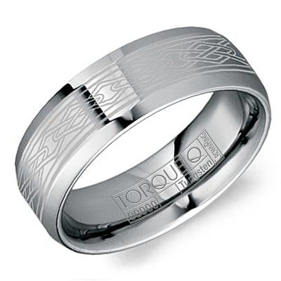 Tungsten 8mm Artisan Mens Wedding Band Jupiter Jewelry Inc