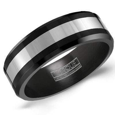 Black Ceramic Tungsten 8mm Mens Wedding Band Jupiter Jewelry Inc