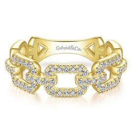 14kt .35ctw Diamond Link Ring