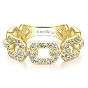 14kt .35ctw Diamond Link Ring