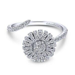 14kt .56ctw Diamond Bypass Ring