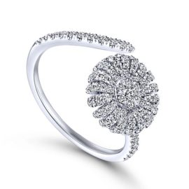 14kt .56ctw Diamond Bypass Ring