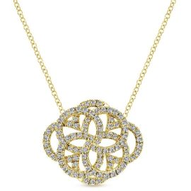 14kt .72ctw Vintage Style Diamond Necklace