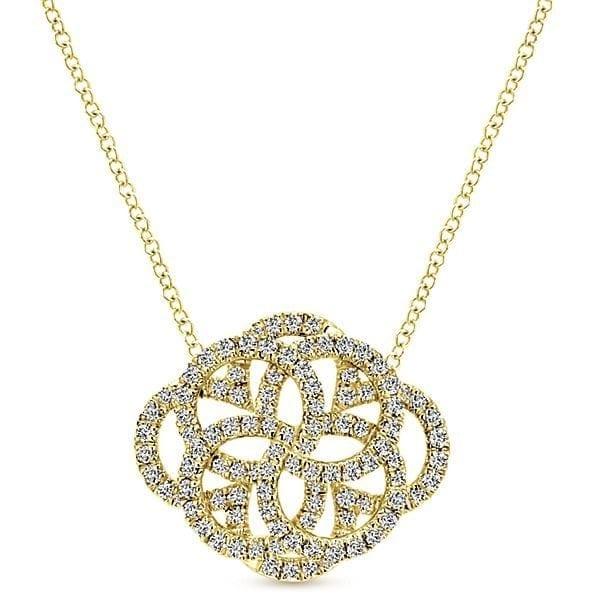 14kt .72ctw Vintage Style Diamond Necklace