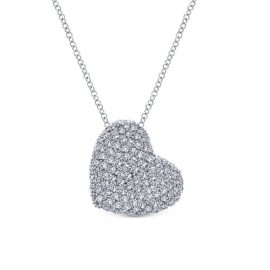 14kt 1.46 ctw pave set diamond necklace