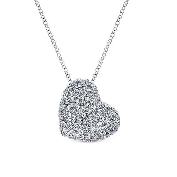 14kt 1.46 ctw pave set diamond necklace