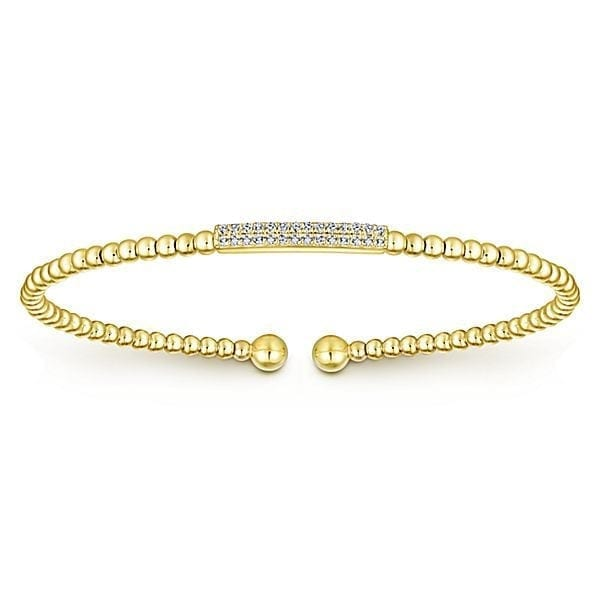 14kt yellow gold .14ctw diamond bangle bracelet