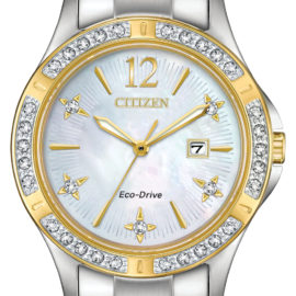 EW2514-59D CITIZEN ECO DRIVE ELEKTRA DIAMOND TWO TONE LADIES WATCH