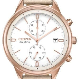 FB2003-05A CITIZEN ECO DRIVE CHANDLER LADIES ROSE TONE WATCH