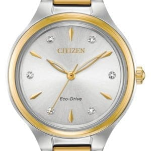 FE2104-50A-CITIZEN ECO DRIVE CORSO LADIES TWO TONE WATCH
