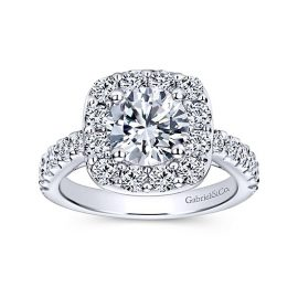Skylar-14kt-White-Gold-1.19ctw Diamond Cushion Shape Halo-Round-Engagement-Ring_Mounting-ER9375W44JJ