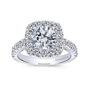 Skylar-14kt-White-Gold-1.19ctw Diamond Cushion Shape Halo-Round-Engagement-Ring_Mounting-ER9375W44JJ