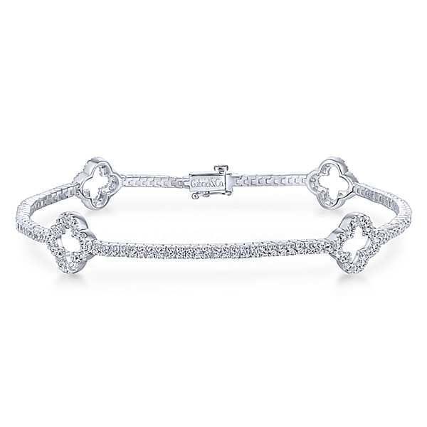 20577-Gabriel-14k-White-Gold-Lusso-Diamond 1.43ctw Clover Style Tennis-Bracelet_TB3900W45JJ-1