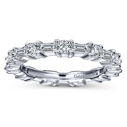 23042-Gabriel-14k-White-Gold-Baguette .91ctw-and-Round .78ctw -Prong-Set-Eternity-Band_AN5285-6W44JJ-5