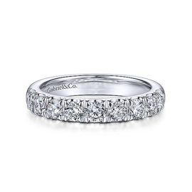 24212-9 stone diamond .99ctw band Gabriel-14k-White-Gold-Contemporary-Straight-Anniversary-Band_AN14871W44JJ-1