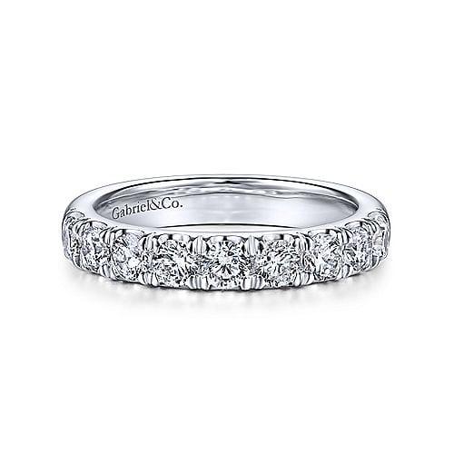24212-9 stone diamond .99ctw band Gabriel-14k-White-Gold-Contemporary-Straight-Anniversary-Band_AN14871W44JJ-1