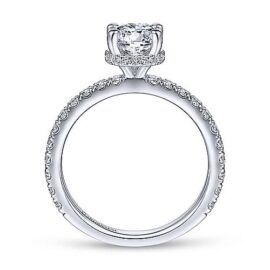 .54 carats diamond engagement ring with hidden halo