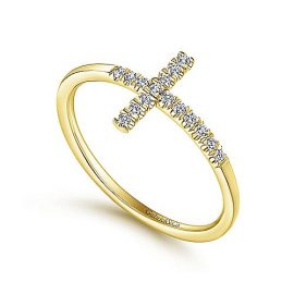 24259-Gabriel-14k-Yellow-Gold-Horizontal-Pave-Diamond-Cross-Ladies-Ring_LR51170Y45JJ-3