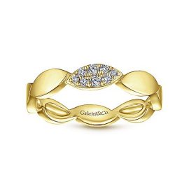 24262-Gabriel-14k-Yellow-Gold-Stackable-Contoured-Marquise-Ladies-Ring_LR51254Y45JJ-4