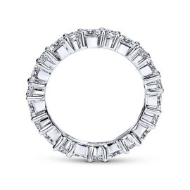 23042-Gabriel-14k-White-Gold-Bag23042-Gabriel-14k-White-Gold-Baguette .91ctw-and-Round .78ctw-Prong-Set-Eternity-Band_AN5285-6W44JJ-2uette-and-Round-Prong-Set-Eternity-Band_AN5285-6W44JJ-2