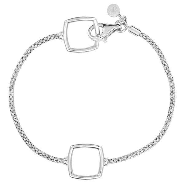 24465-sterlingsilverpopcornwith2squarestations-bracelet-1C846S