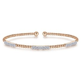 24617- Gabriel-14K-Pink-Gold-Fashion-Bangle_BG4217-65K45JJ-1