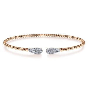 24628 - Diamond .29ctw double pave drop Gabriel-14K-Pink-Gold-Fashion-Bangle_BG4230-65K45JJ-1