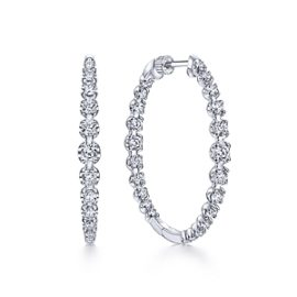 24663 - Diamond 2.63ctw Inside Out Diamond Hoops -Gabriel-14K-White-Gold-Fashion-Earrings_EG13821W45JJ-1